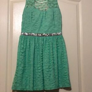 Juniors' Candie's® Lace Beaded Dress